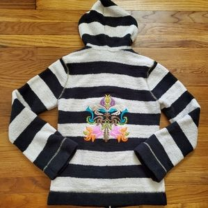 Unique Julep Lounge Kashwere hooded zip up sweater